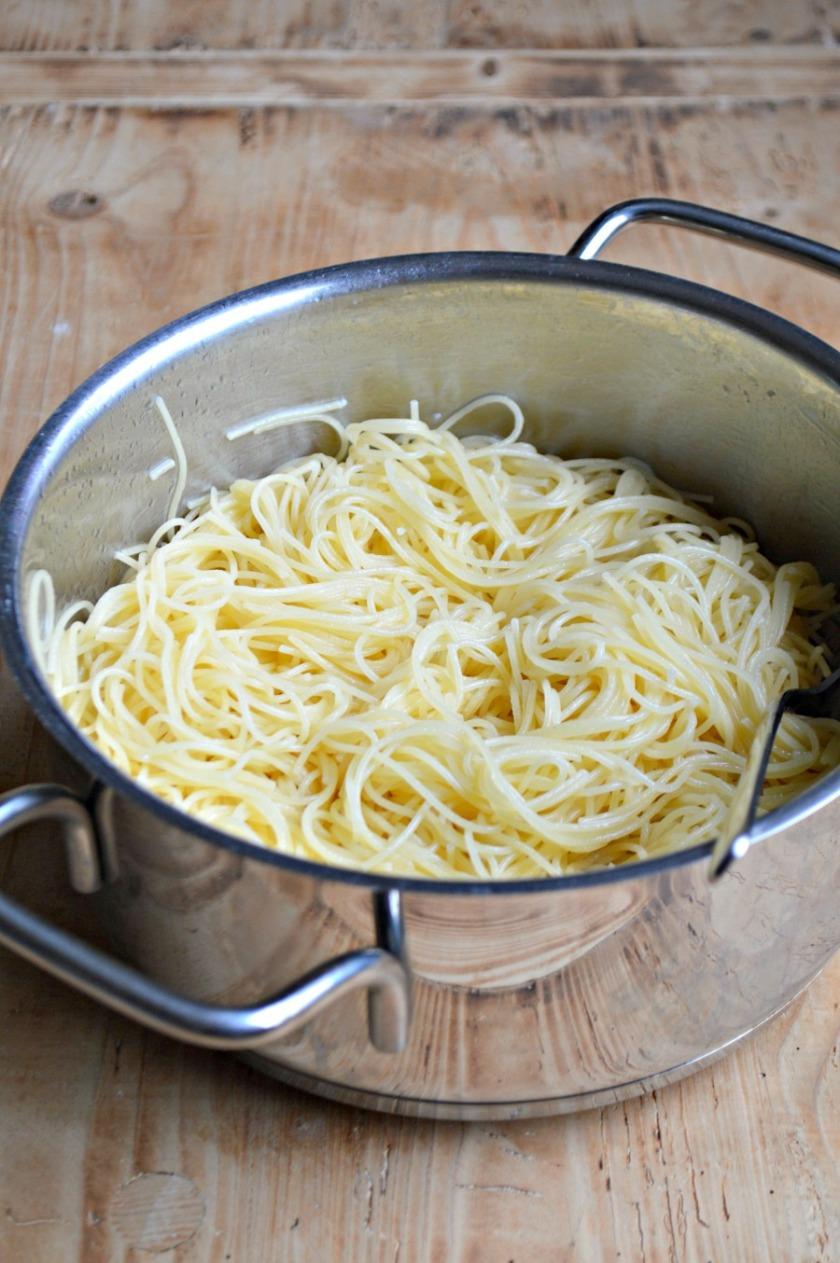 Capellini Pasta with Olive Oil ...